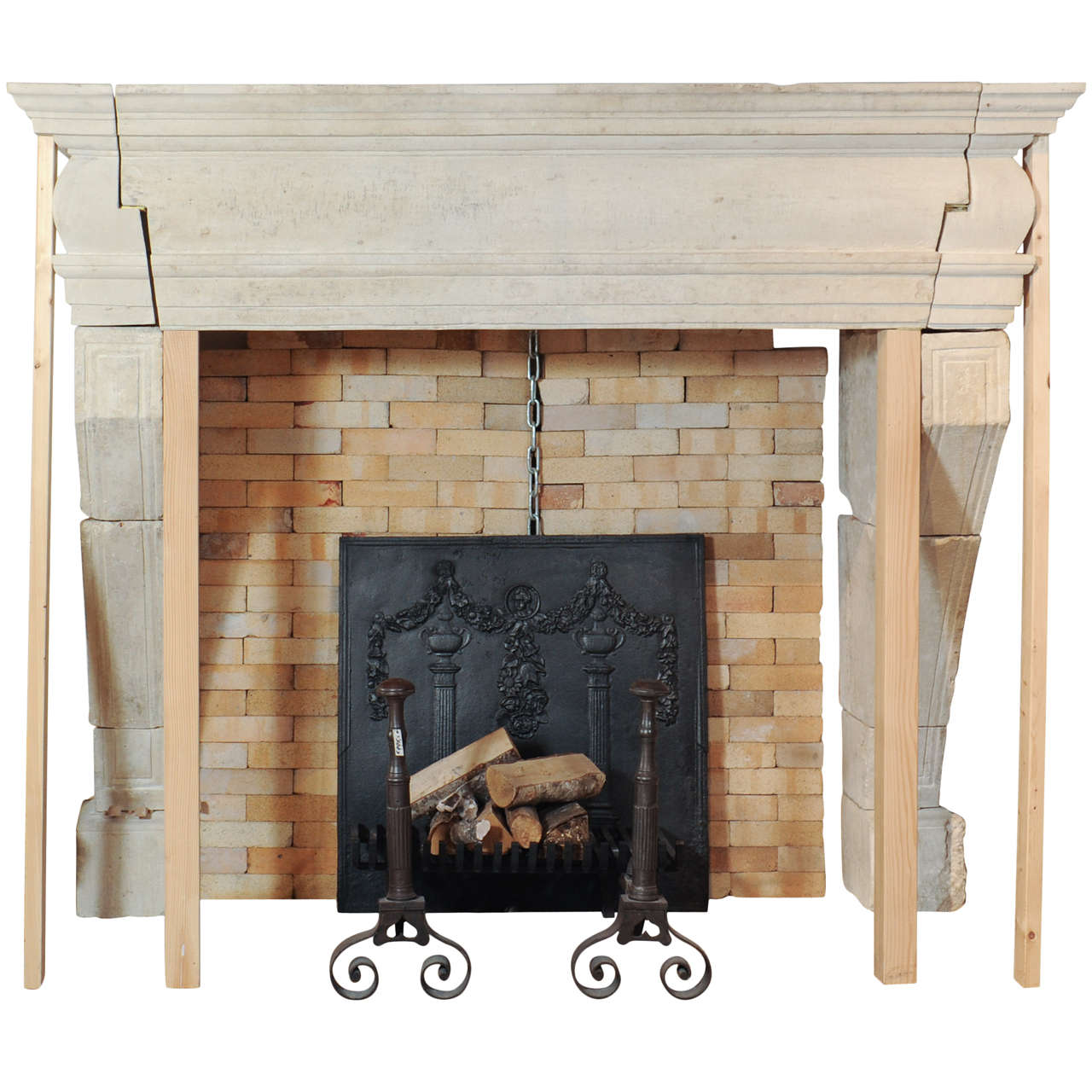 A large 17th century french limestone castle fireplace mantel piece at 1stdibs - Fireplace mantel piece ...