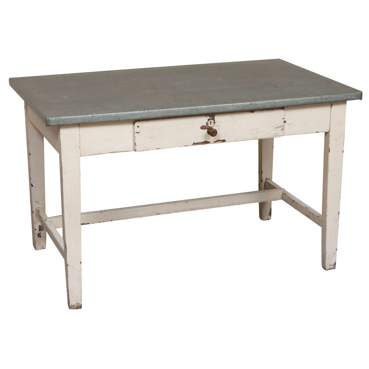 Zinc-Topped Writing Table