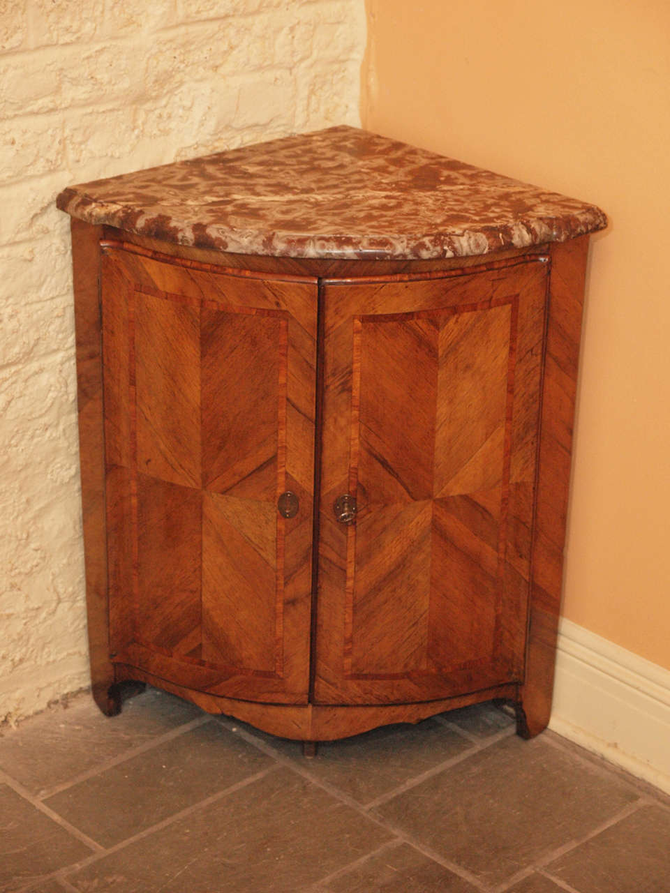 Pair Antique French Corner Cabinet For Sale At 1stdibs