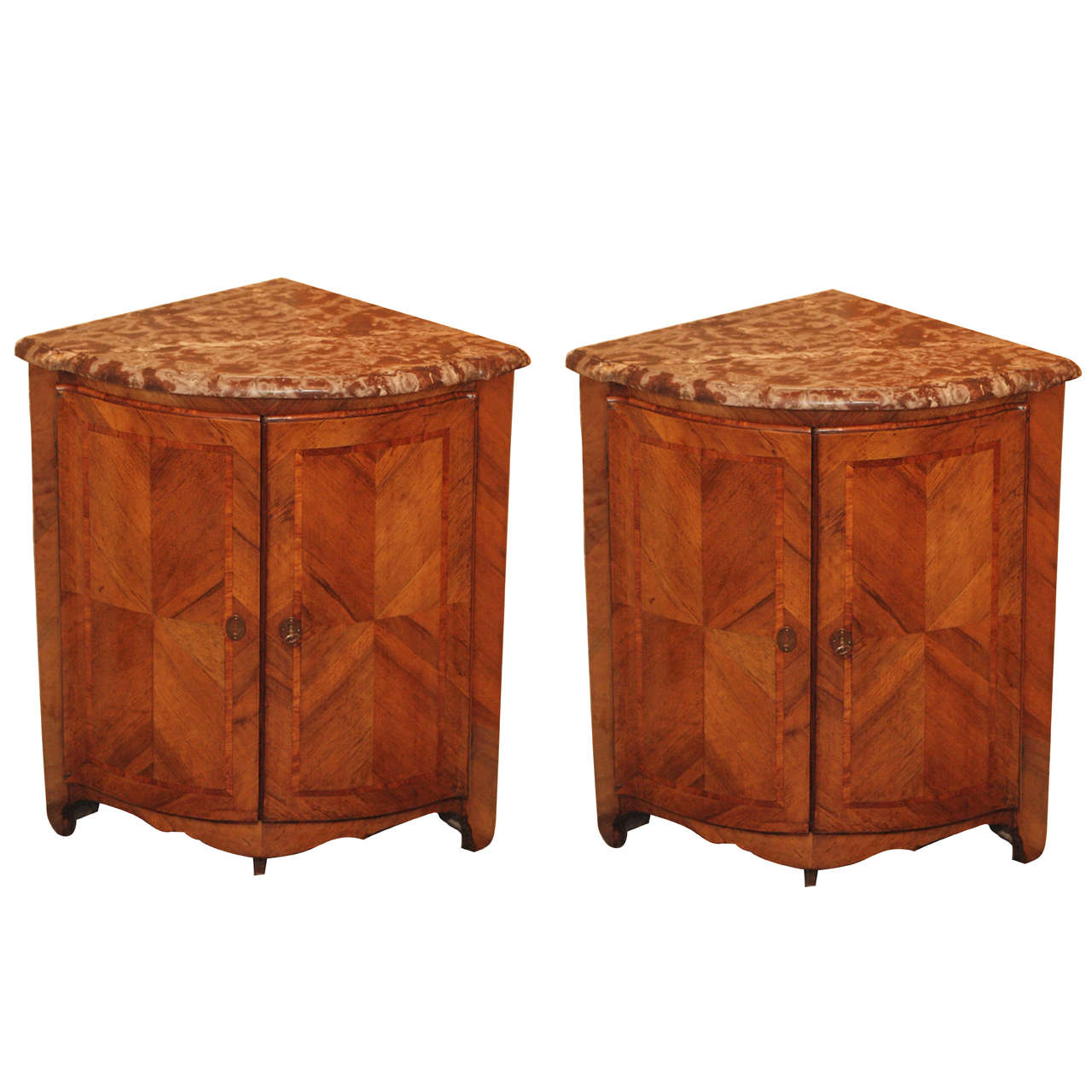 Pair Antique French Corner Cabinet For Sale - Pair Antique French Corner Cabinet At 1stdibs