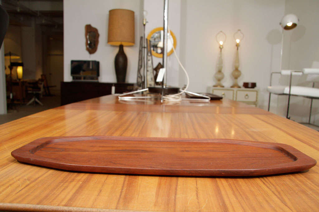 Danish Teak Serving Tray by Digsmed In Excellent Condition For Sale In New York, NY