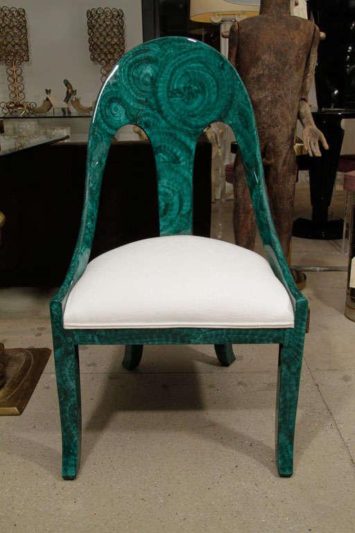 American Pair Malachite Chairs