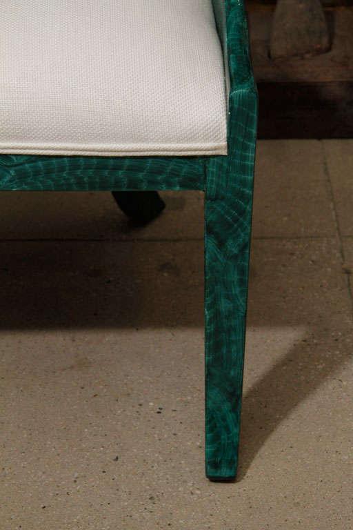 Wood Pair Malachite Chairs