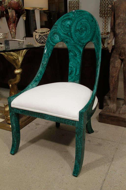 Pair Malachite Chairs 4