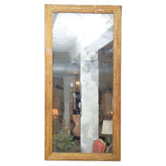 Large-Scale French Fluted Giltwood Mirror