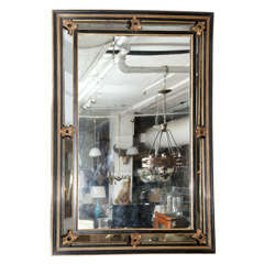 French Napoleon III Mirror with Gilt Wood Accents