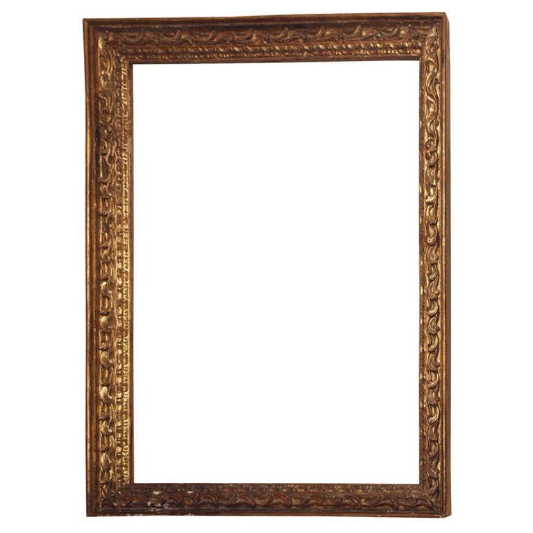 Glasses Frame In Spanish : Monumental Giltwood Spanish Frame at 1stdibs