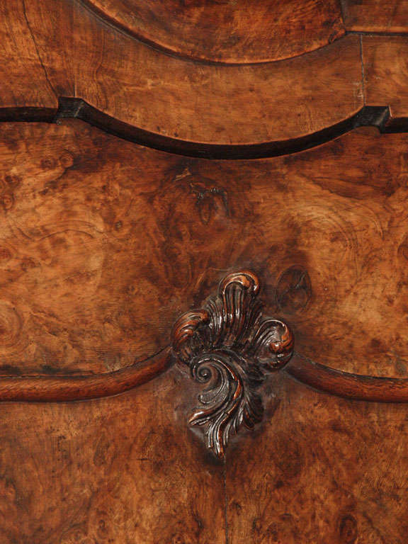 Antique Dutch Queen Anne Burled Walnut Cabinet For Sale 3
