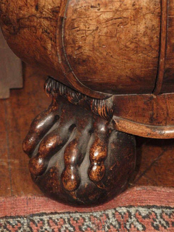 Antique Dutch Queen Anne Burled Walnut Cabinet For Sale 4