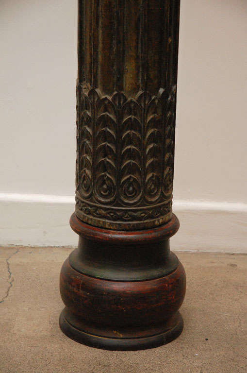 Pair of Carved Wooden Pillars image 5