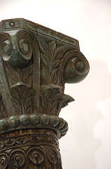 Pair of Carved Wooden Pillars thumbnail 7