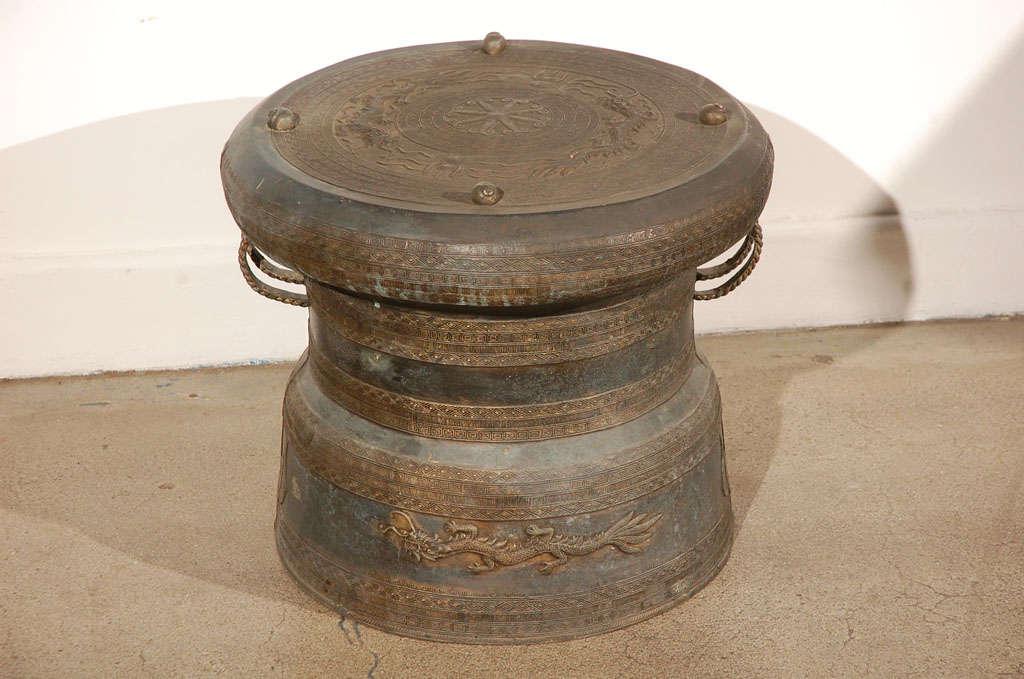 Outdoor Asianthai Bronze Rain Drum At 1stdibs