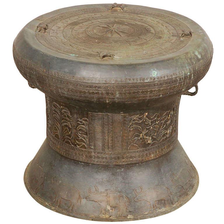 Asian Bronze Rain Drum At 1stdibs