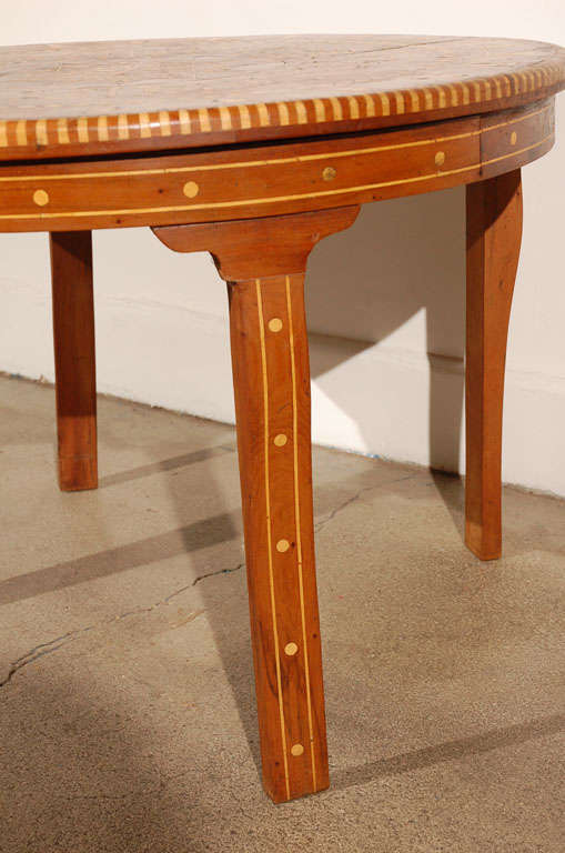 Moroccan Round Coffee Table Inlaid Marquetry 6