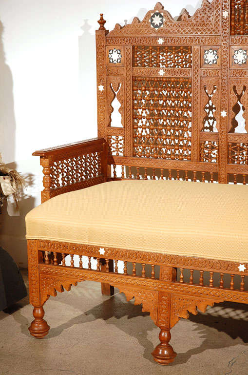 Moorish Syrian Arabian Style Settee 6