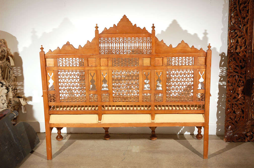 Middle Eastern Syrian Arabian Style Settee At 1stdibs