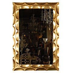 Gilded Honeycomb Mirror by Bryan Cox