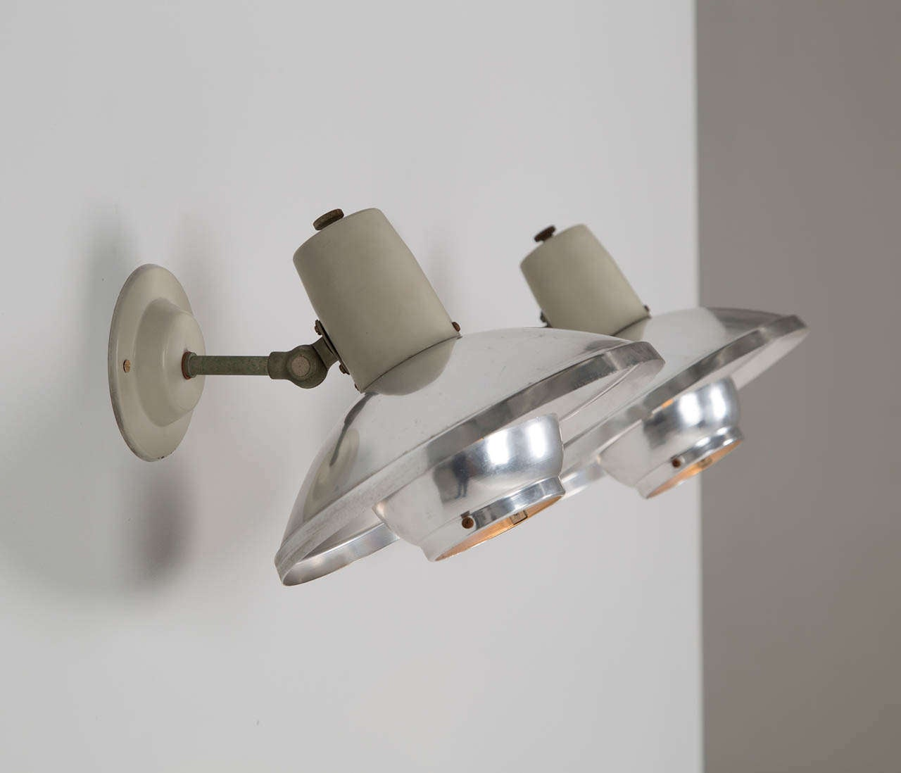 French Industrial Wall Lights : Set of French Industrial Wall Lights at 1stdibs