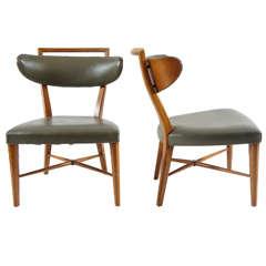 Pair of Slipper Chairs in the style of T. H. Robsjohn-Gibbings, c. 1950