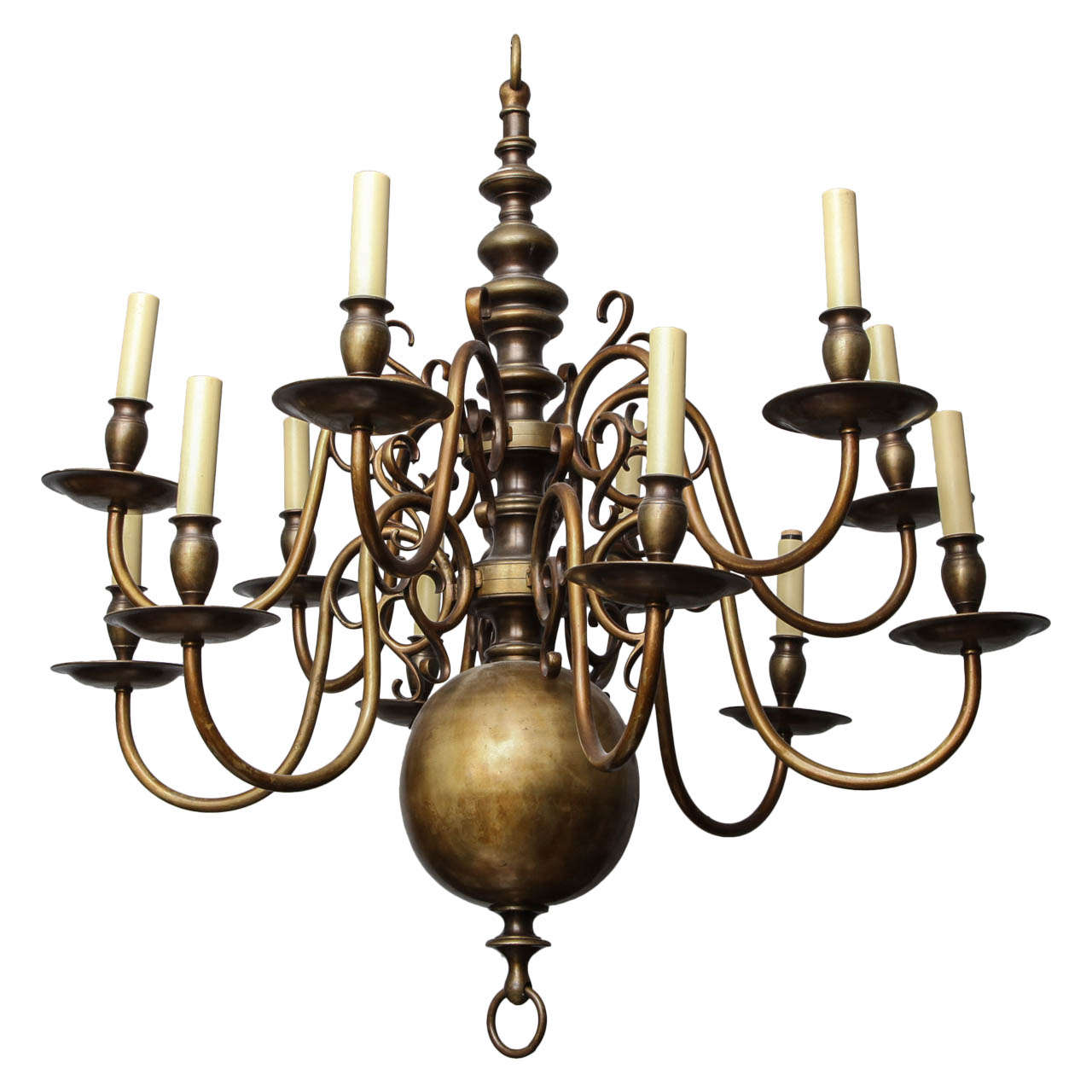 A 12 light dutch baroque style chandelier at 1stdibs a 12 light dutch baroque style chandelier for sale aloadofball Image collections