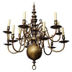 A 12 Light Dutch Baroque Style Chandelier