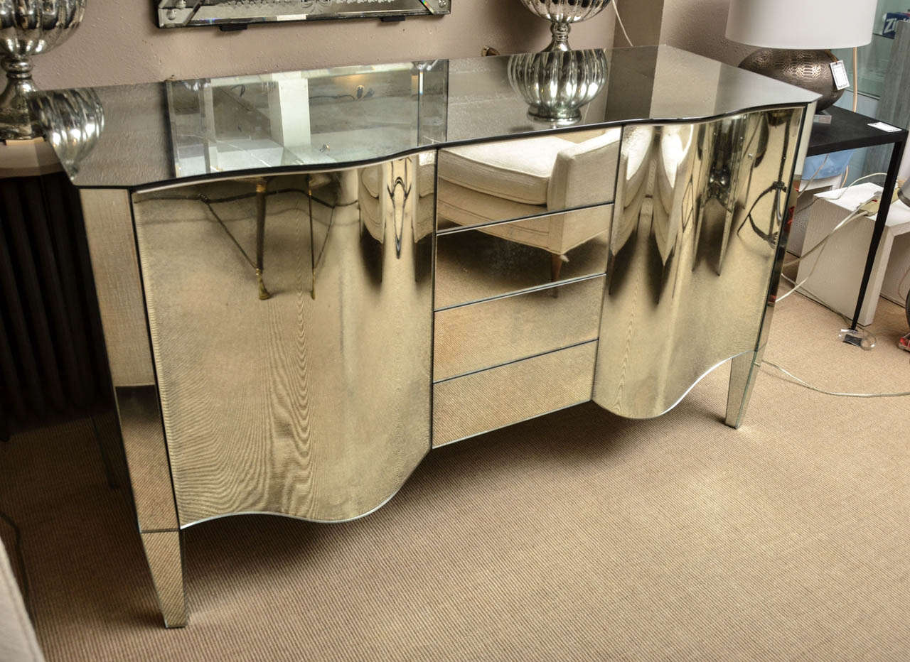 magnificent mirrored sideboarddry bar for sale at stdibs - magnificent mirrored sideboarddry bar