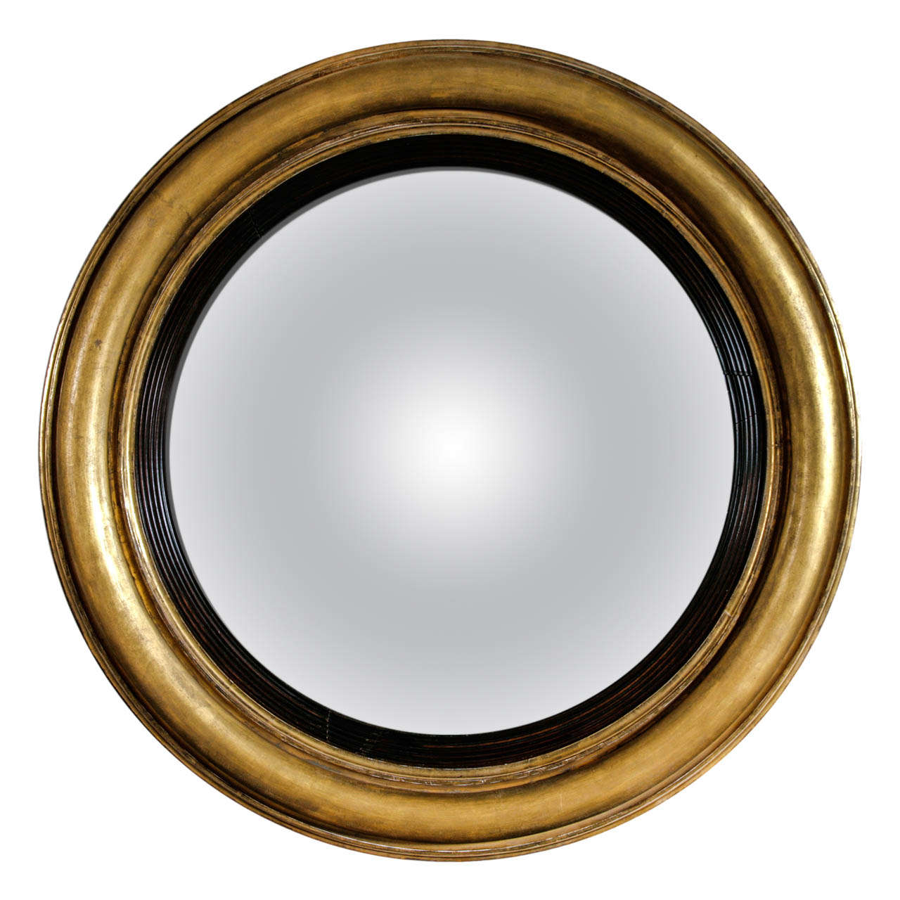An extremely large regency giltwood convex wall mirror at for Convex mirror