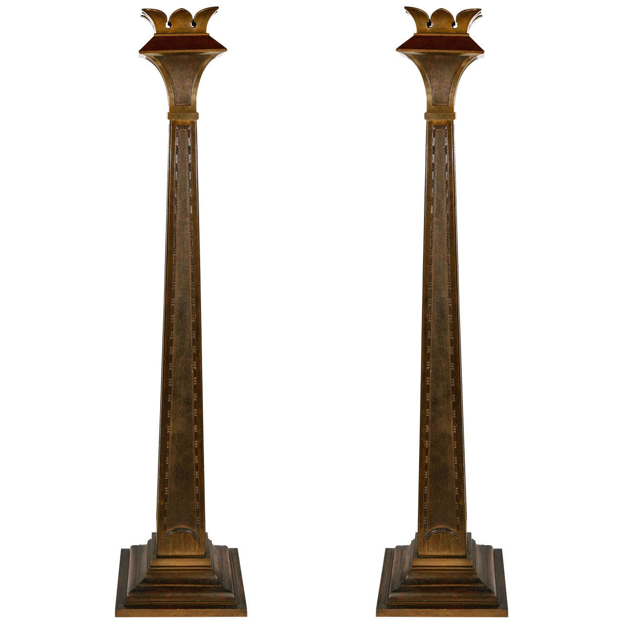 early 20th century deco bronze pillars at 1stdibs