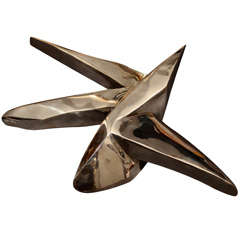 Chuck Price polished cast bronze star