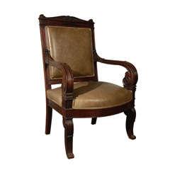 Charles X Neoclassical Armchair