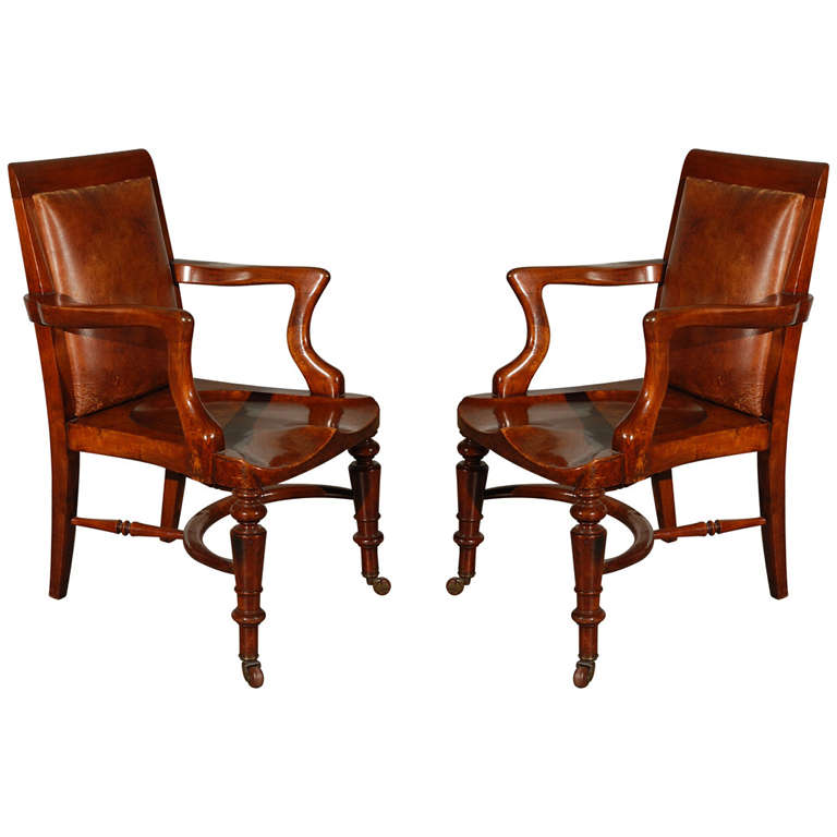 Pair Of William Iv Armchairs At 1stdibs
