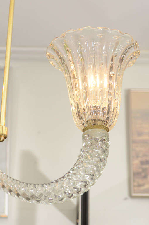 Barovier And Toso Art Glass Pendant Chandelier For Sale At