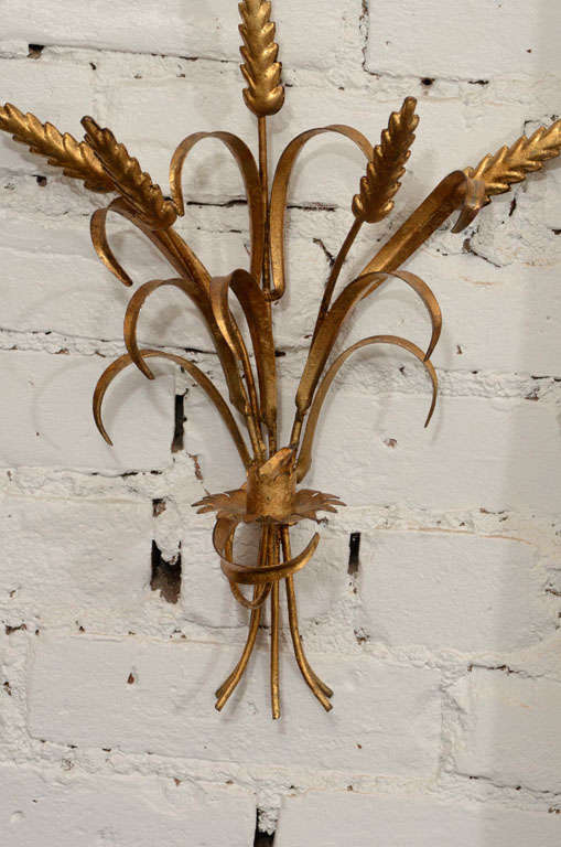 Pair Of Sheaf Of Wheat Wall Sconces For Sale At 1stdibs