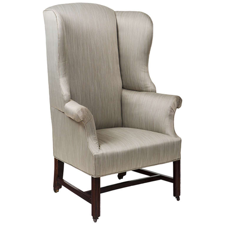 18th century georgian upholstered wing chair for sale at On upholstered wing chairs for sale