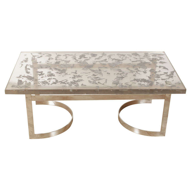 1970's Resin and Metal Coffee Table