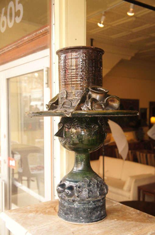 Danish Ceramic Fountain by Bjorn Wiinblad For Sale