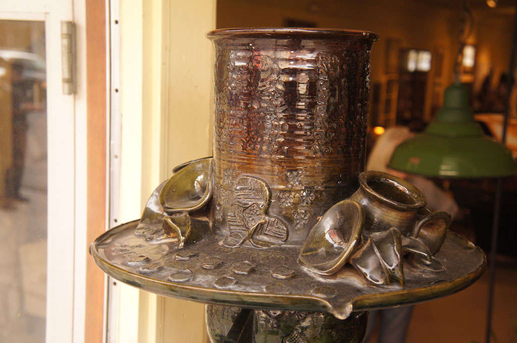 Mid-20th Century Ceramic Fountain by Bjorn Wiinblad For Sale