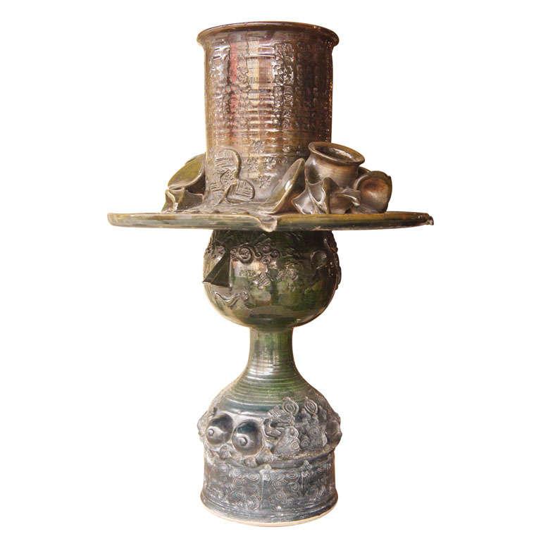 Ceramic Fountain by Bjorn Wiinblad For Sale