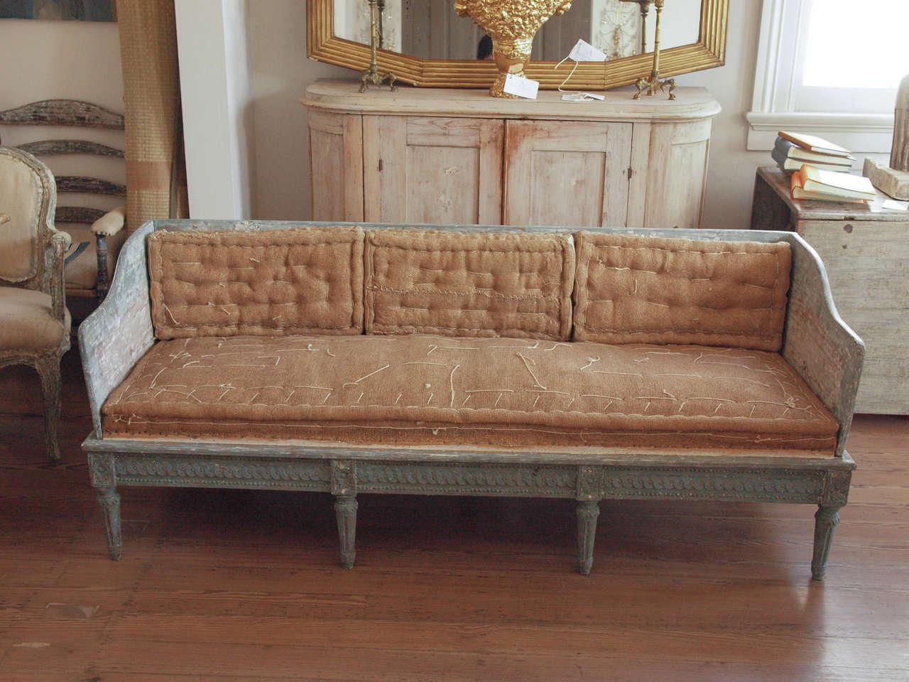 Swedish trag sofa at 1stdibs for Swedish sofa