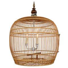 Fabulous Bird Cage Bamboo Chandelier