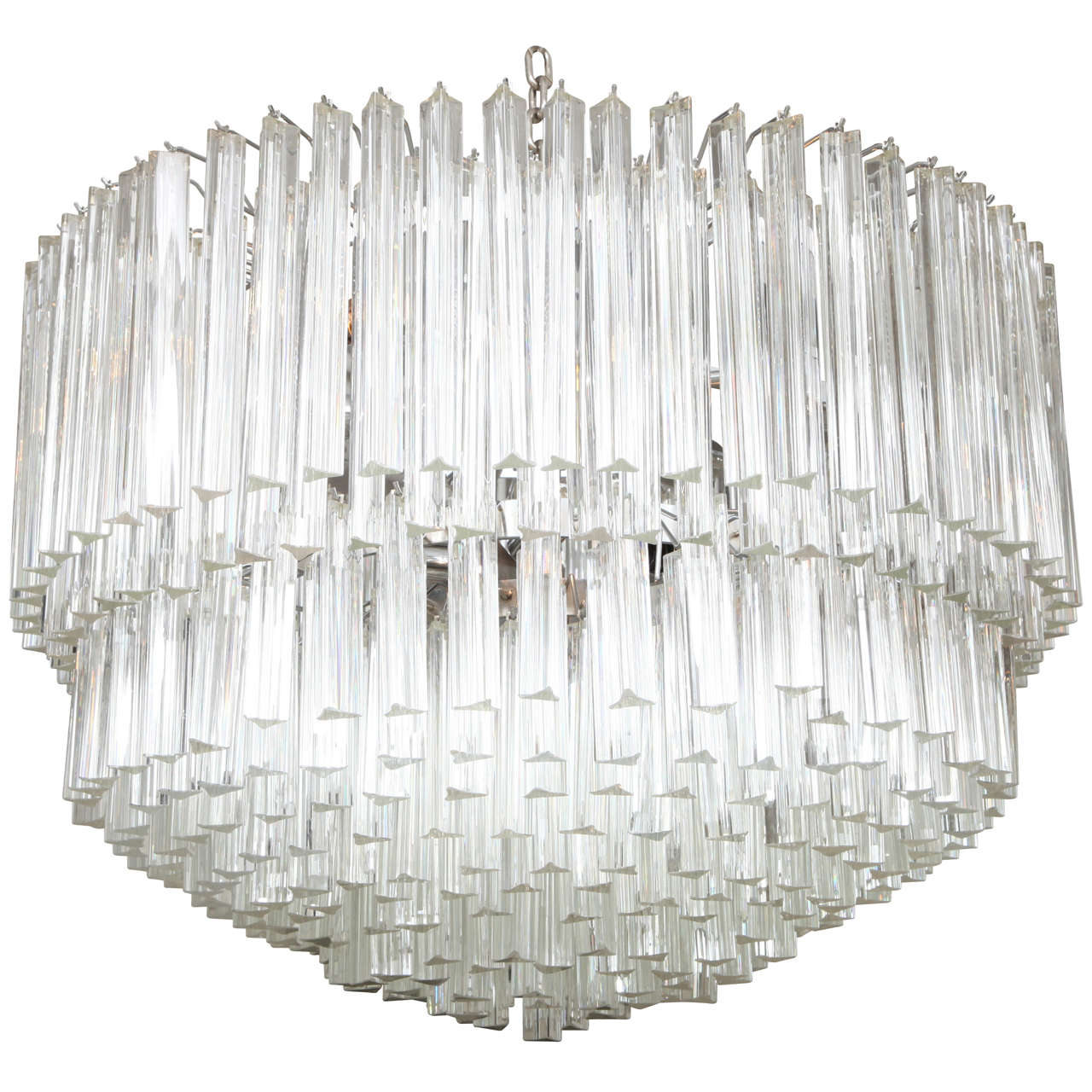 Exquisite Camer Style Murano Glass Chandelier (Matching Sconces Avail.) For Sale