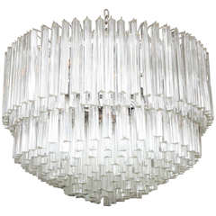 Exquisite Camer Style Murano Glass Chandelier (Matching Sconces Avail.)