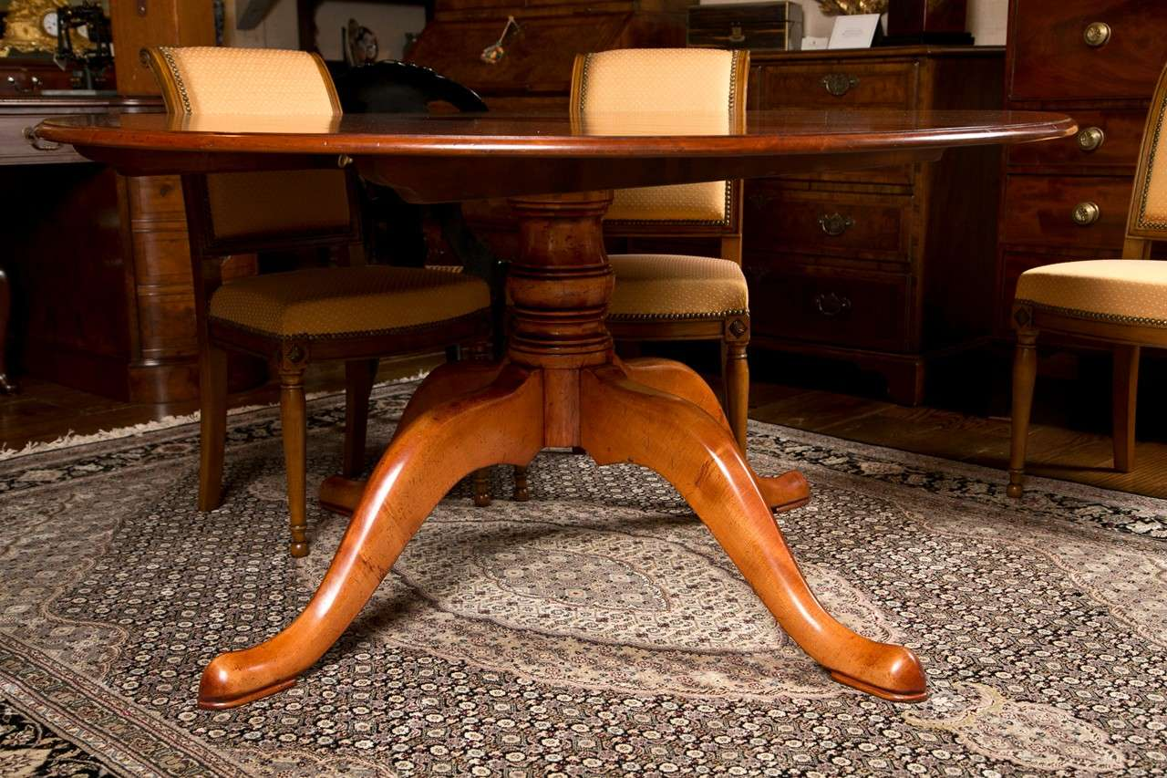 Custom english 60 diameter cherry dining table for sale for Table th not bold