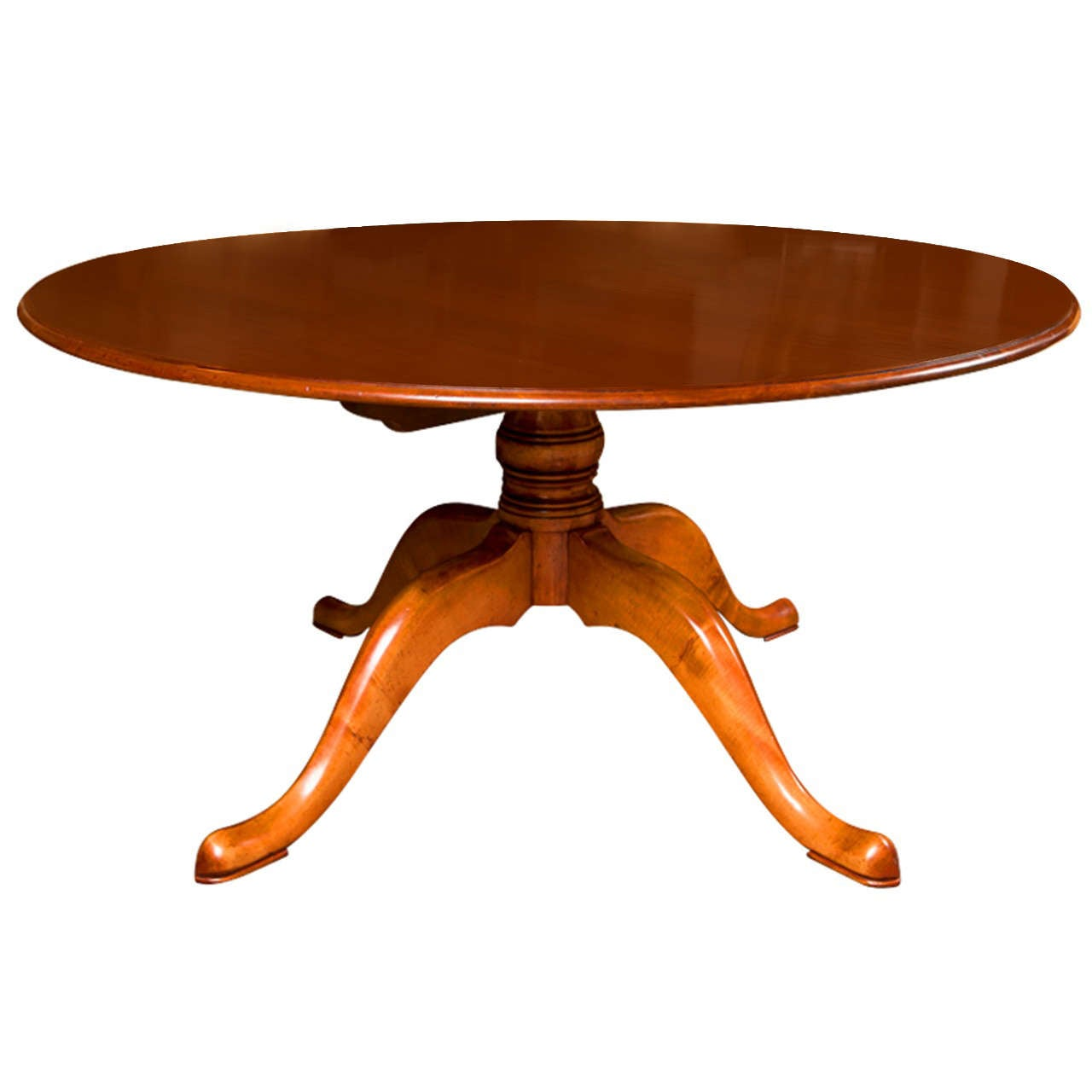 Custom english 60 round cherry dining table for sale at for Cherry dining table
