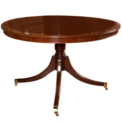 "Custom 48"" Diameter Mahogany Table with Leaf"