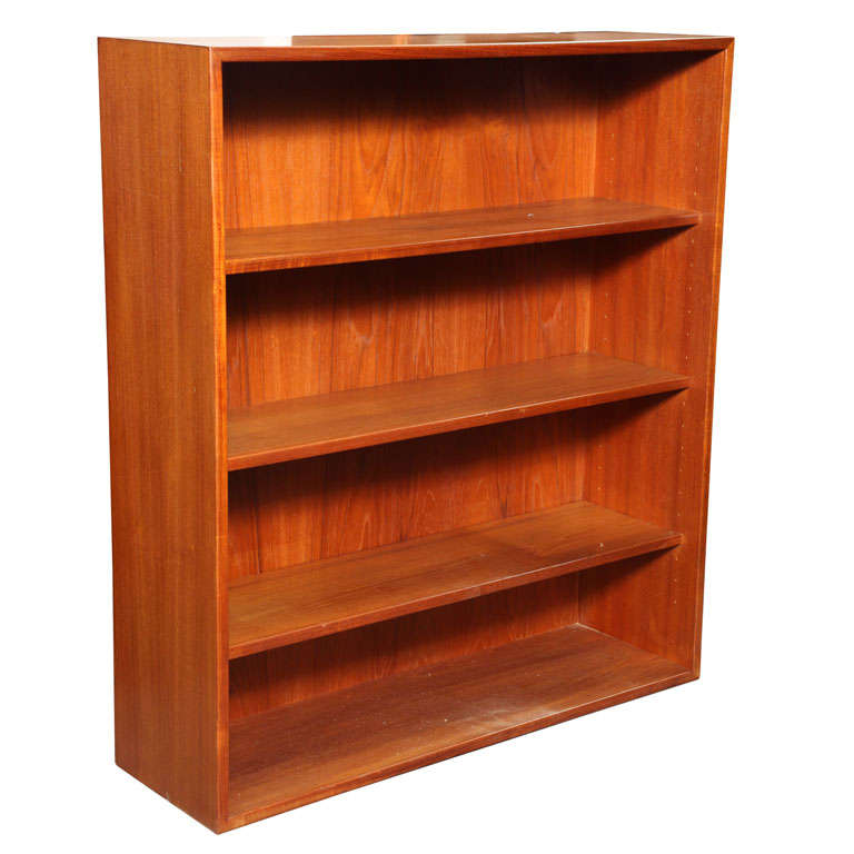 Low Teak Bookcase At 1stdibs