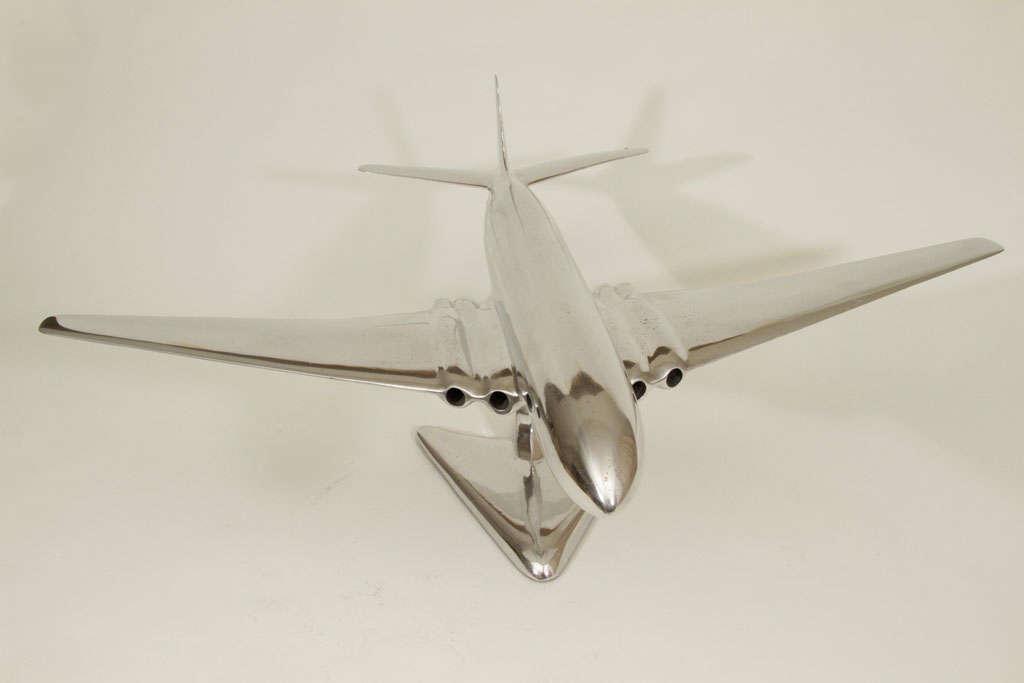 Mid-20th Century De Havilland Comet Cast Aluminum Airplane Model
