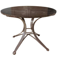 Pair of Large Steel Tables