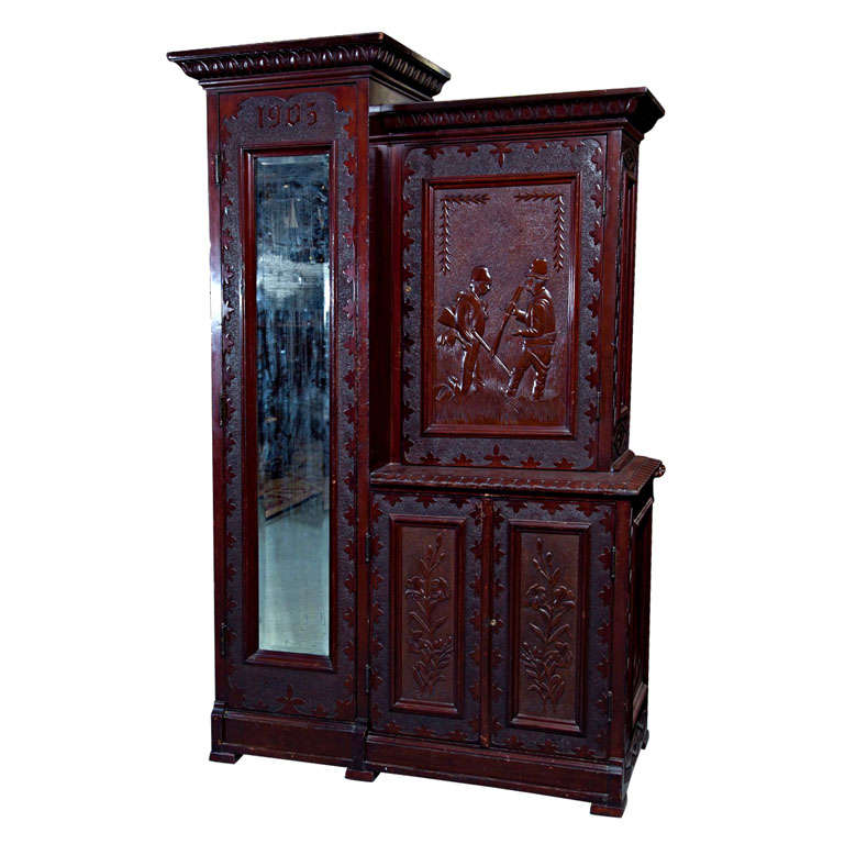 Mahogany Custom Made Doctor's Cabinet For Sale at 1stdibs