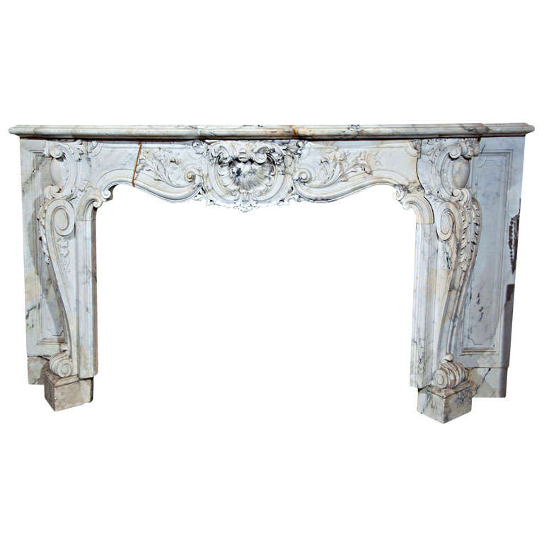 French Style Marble Mantel At 1stdibs